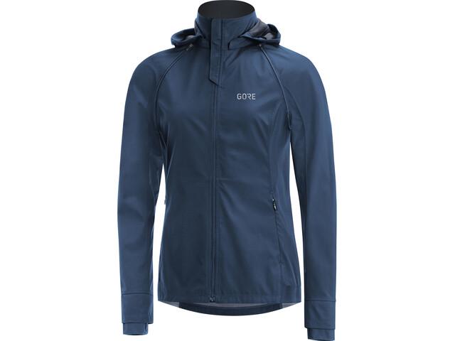 GORE WEAR R3 Gore Windstopper Zip-Off Jacket Women, deep water blue/black